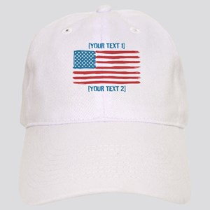 [Your Text] 'Handmade' US Flag Cap